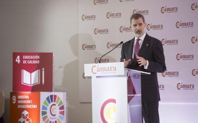 El Rey preside el Pleno de la Cámara de España