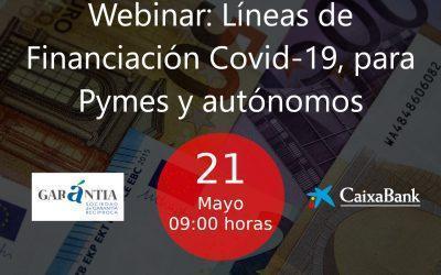 Webinar: Líneas de Financiación Covid-19, para Pymes y autónomos