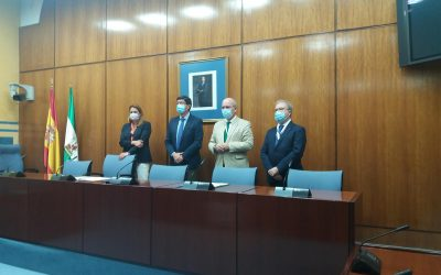 Imágenes del convenio de Turismo (Junta y Cámaras de Andalucía)