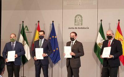 CEA, Cámaras de Andalucía y ATA firman con la Junta el Plan de Apoyo a pymes y autónomos dotado con más de Son 666.600.000 euros