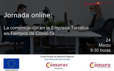 """Jornada online """"La Comunicación en la Empresa Turística en Tiempos de COVID-19"""""""