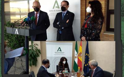 Fructífero encuentro institucional entre la Consejera de Igualdad, el Presidente de las Cámaras de Andalucía y el Presidente de CEA.