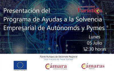 """Jornada Online """"Presentación del Programa de Ayudas a la Solvencia Empresarial de Autónomos y Pymes"""""""
