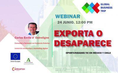 Webinar EXPORTA O DESAPARECE. Oportunidades TIC en México y Chile